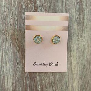 Druzy Glitter stud earrings